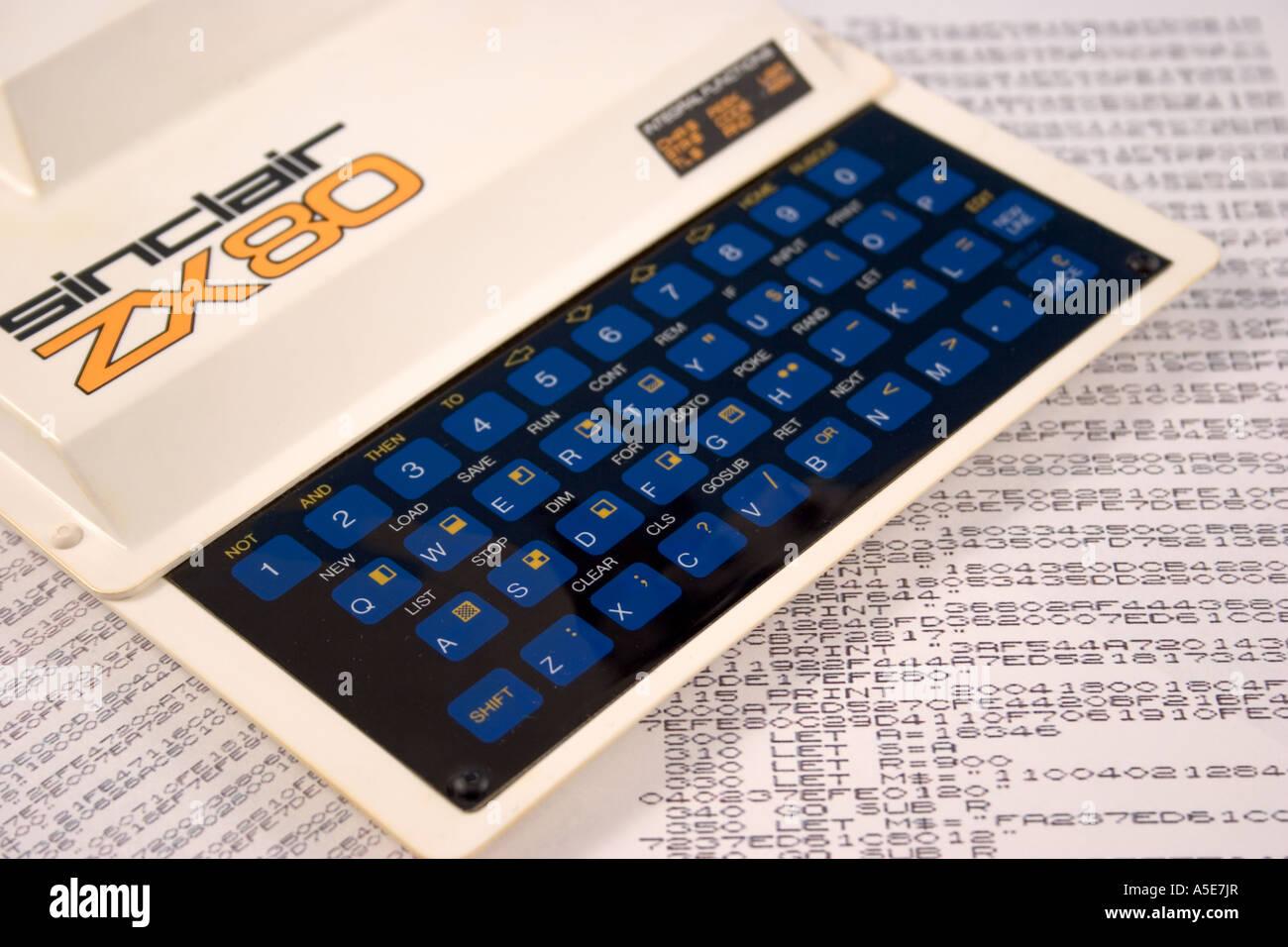 Programming Language Basic Stock Photos Zx80 Circuit Diagram Sinclair Home Computer On Printout Of Code Image