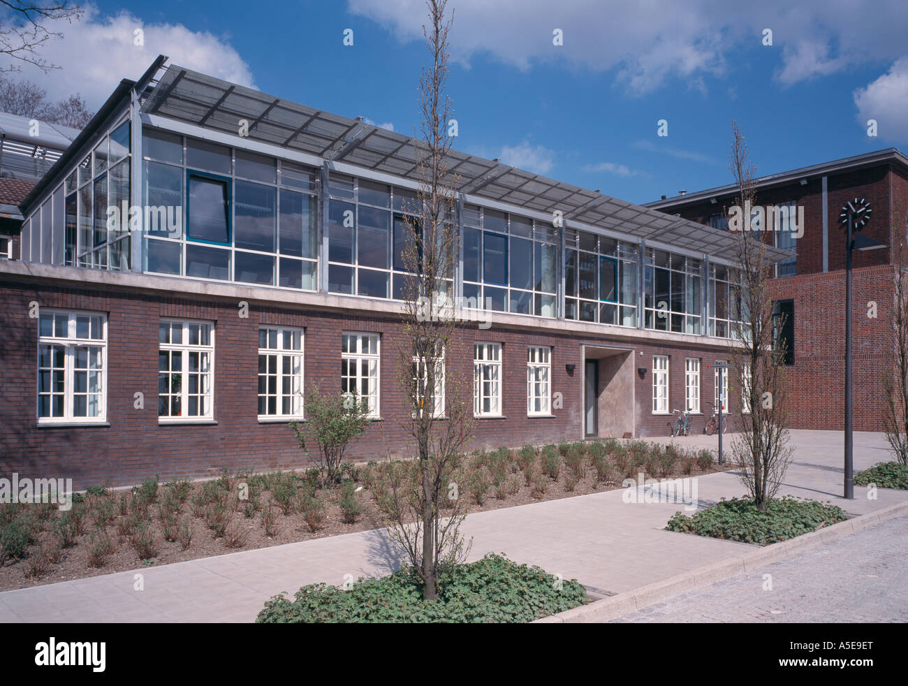 Gelsenkirchen, ehemalige Zeche Nordstern, Umbau zur BUGA 97, ehemalige Lohnhalle Stock Photo