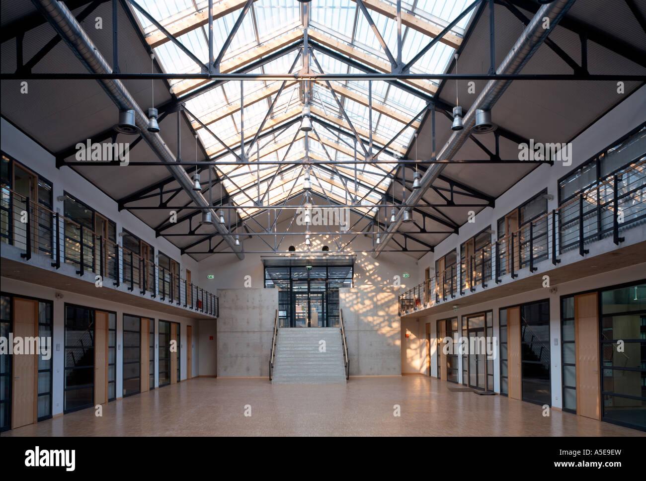Gelsenkirchen, ehemalige Zeche Nordstern, BUGA 97, ehemalige Lohnhalle Stock Photo