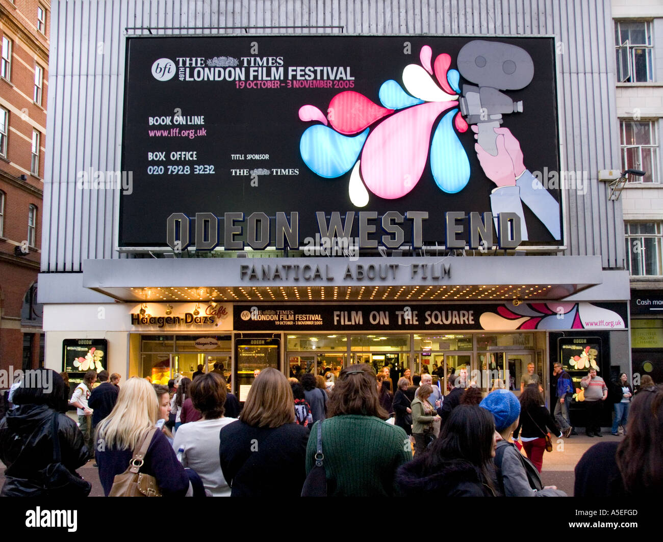 Odeon West End Cinema during the London Film Festival - Stock Image