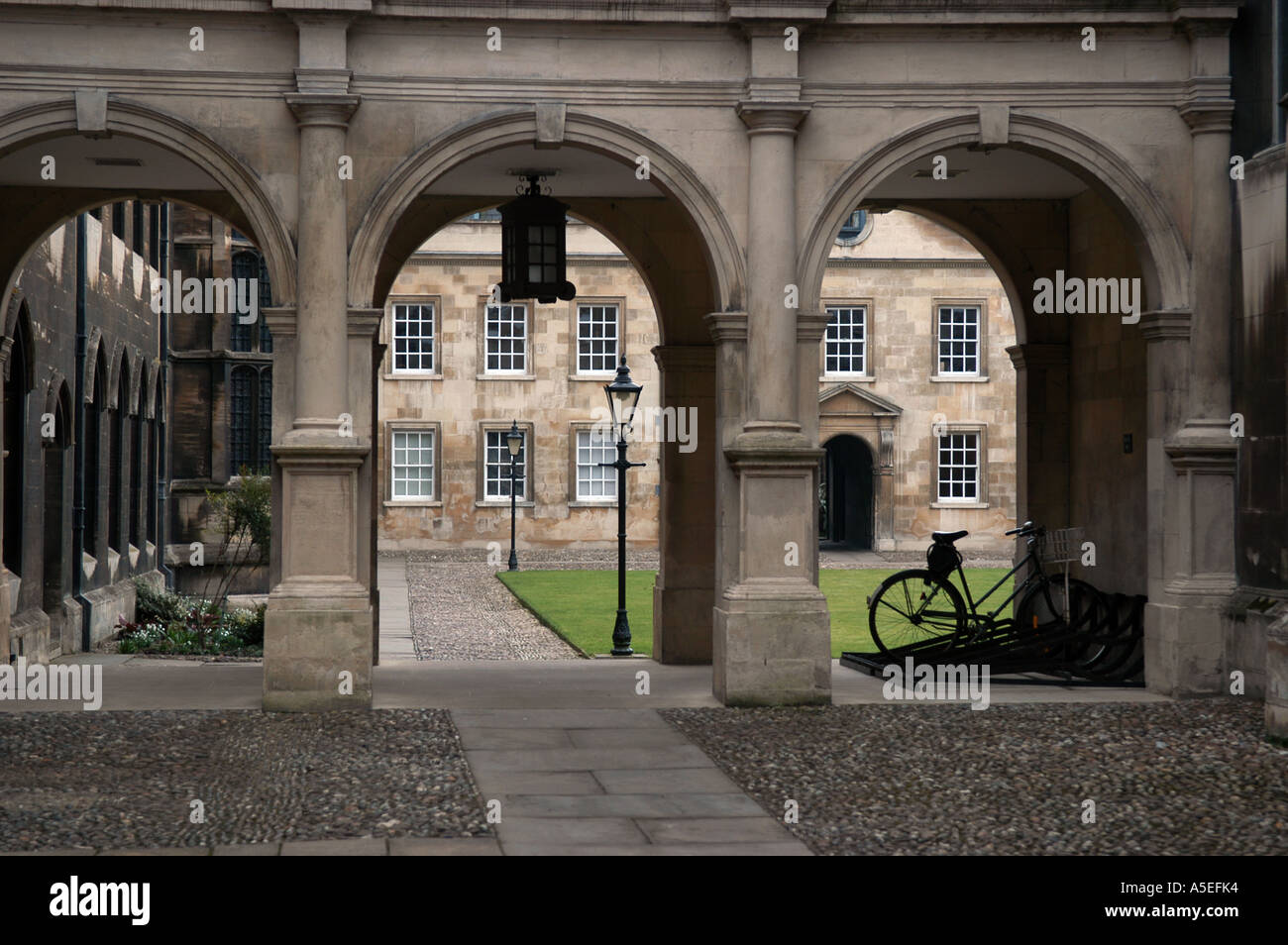 Cambridge University, Cambridge, England. Peterhouse College entrance. - Stock Image