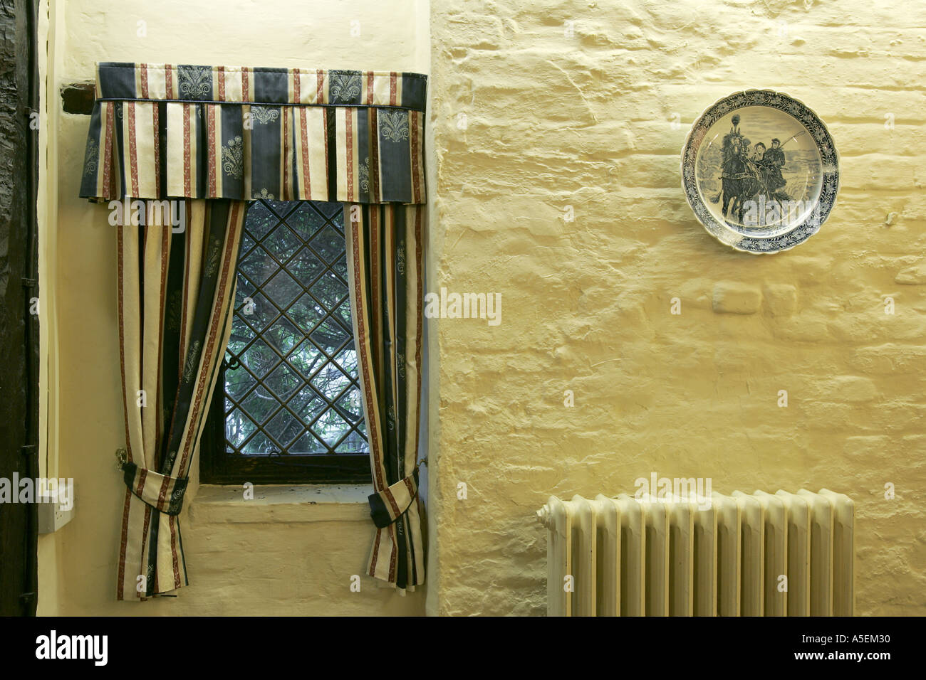 wall mural plate window curtain central hitting art posh restaurant ...