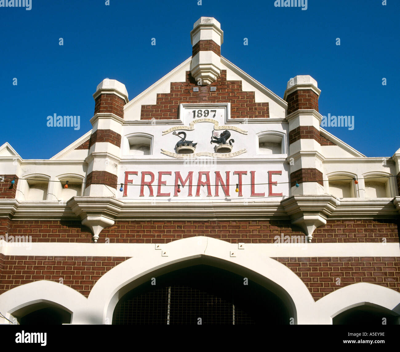 Entrance to the Old Market, Fremantle, Western Australia, Australia - Stock Image