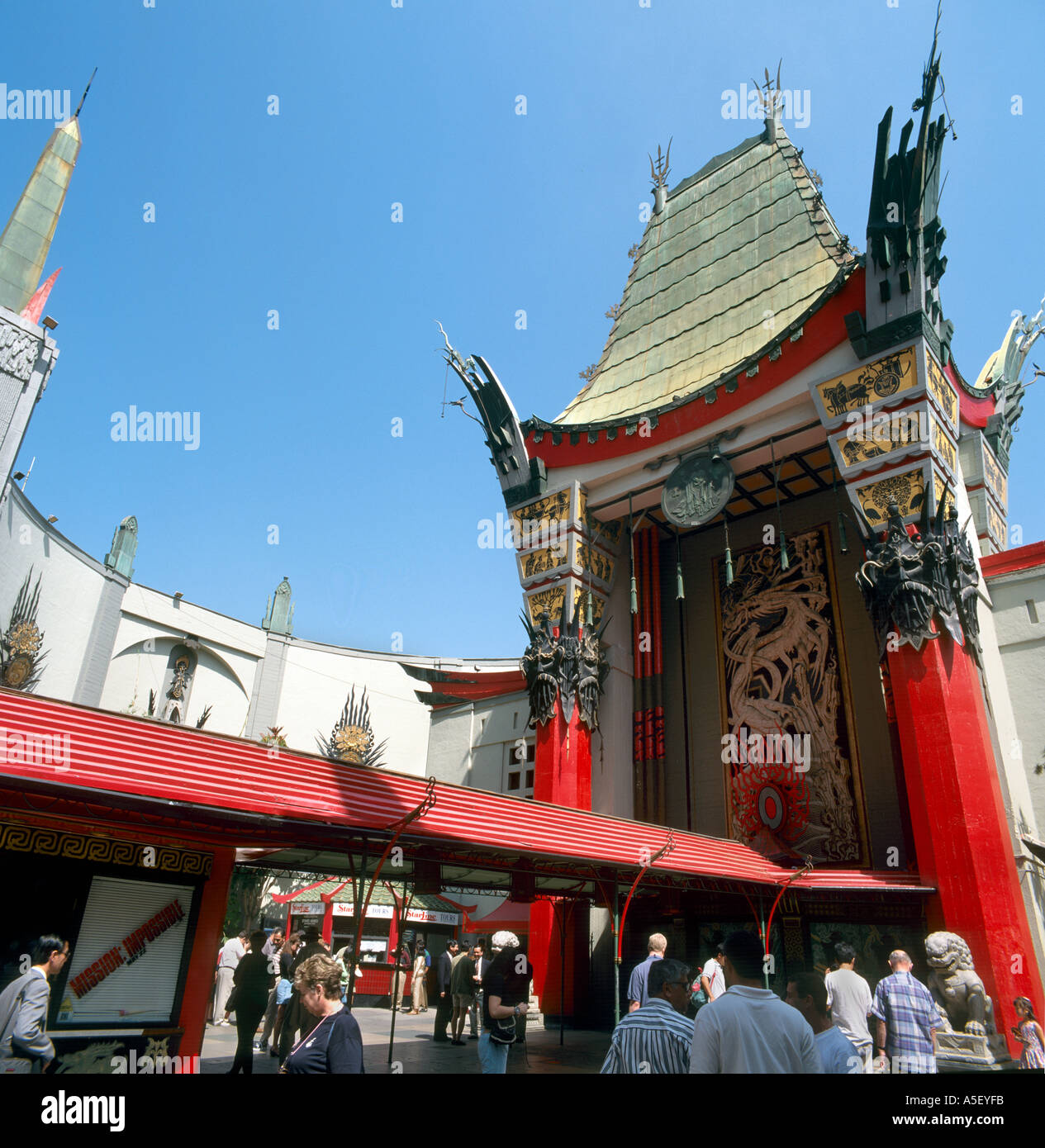Grauman's Chinese Theatre (now the TCL Chinese Theatre), Hollywood, Los Angeles, California, USA - Stock Image