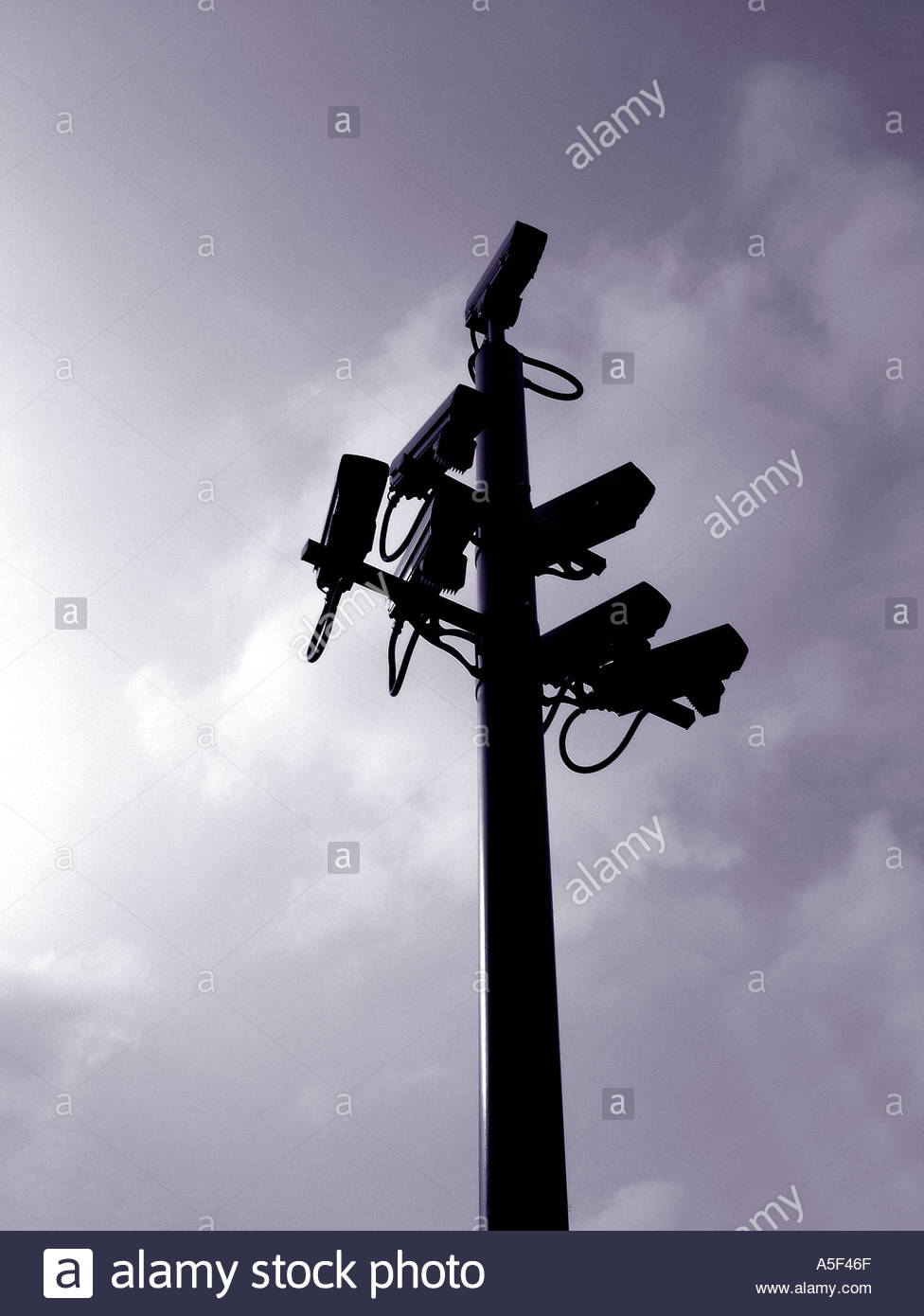 Congestion charging CCTV cameras in London - Stock Image
