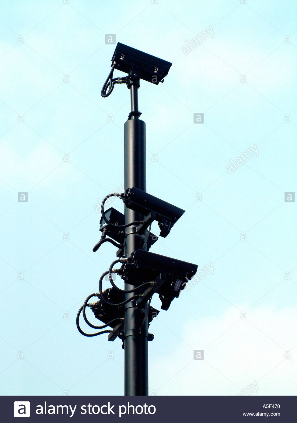 Congestion charging video cameras in London - Stock Image