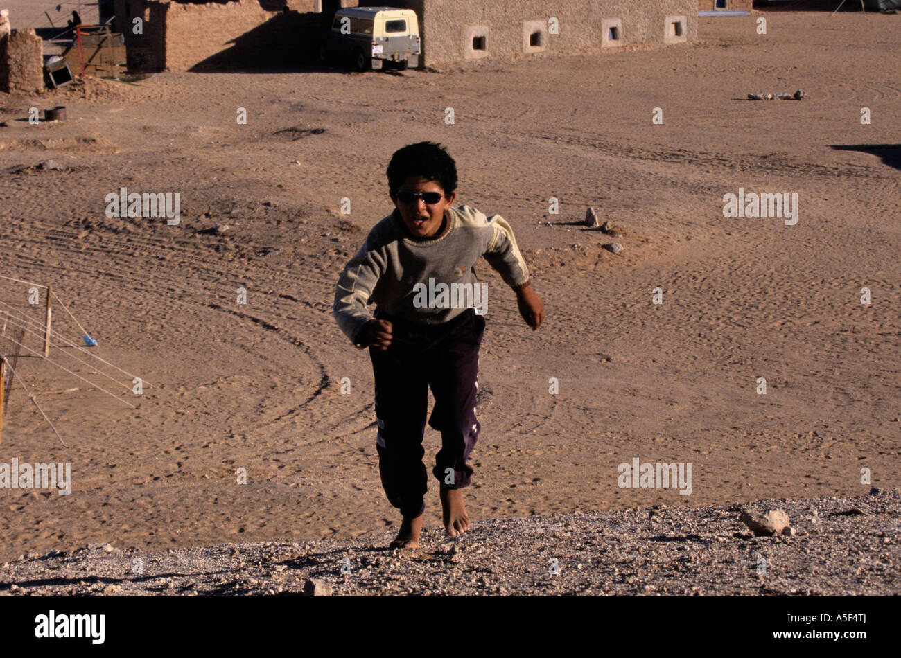 A boy in the Saharawi refugee camp in Tindouf Western Algeria - Stock Image