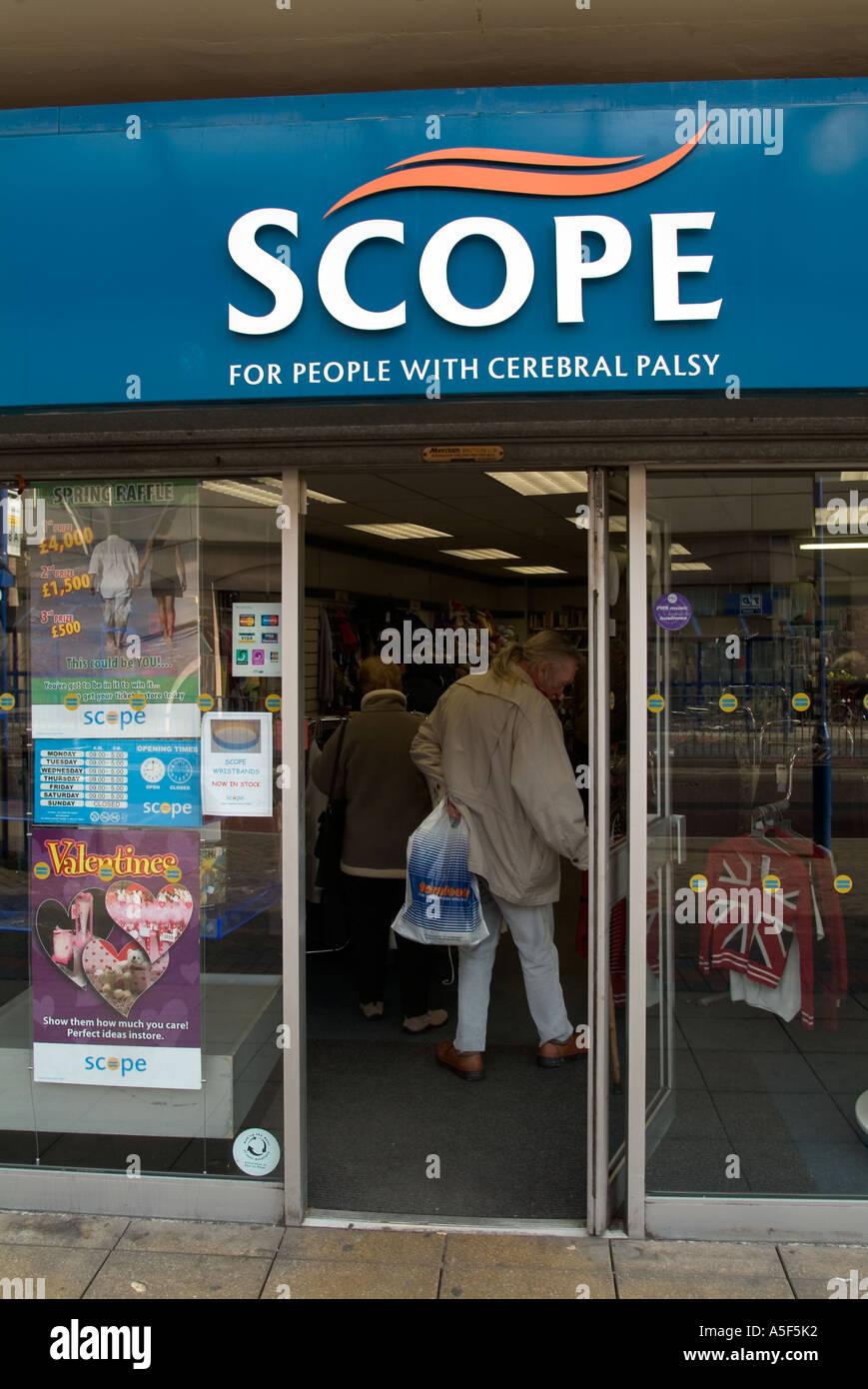 Facade of Scope charity shop Blackburn Lancashire UK - Stock Image