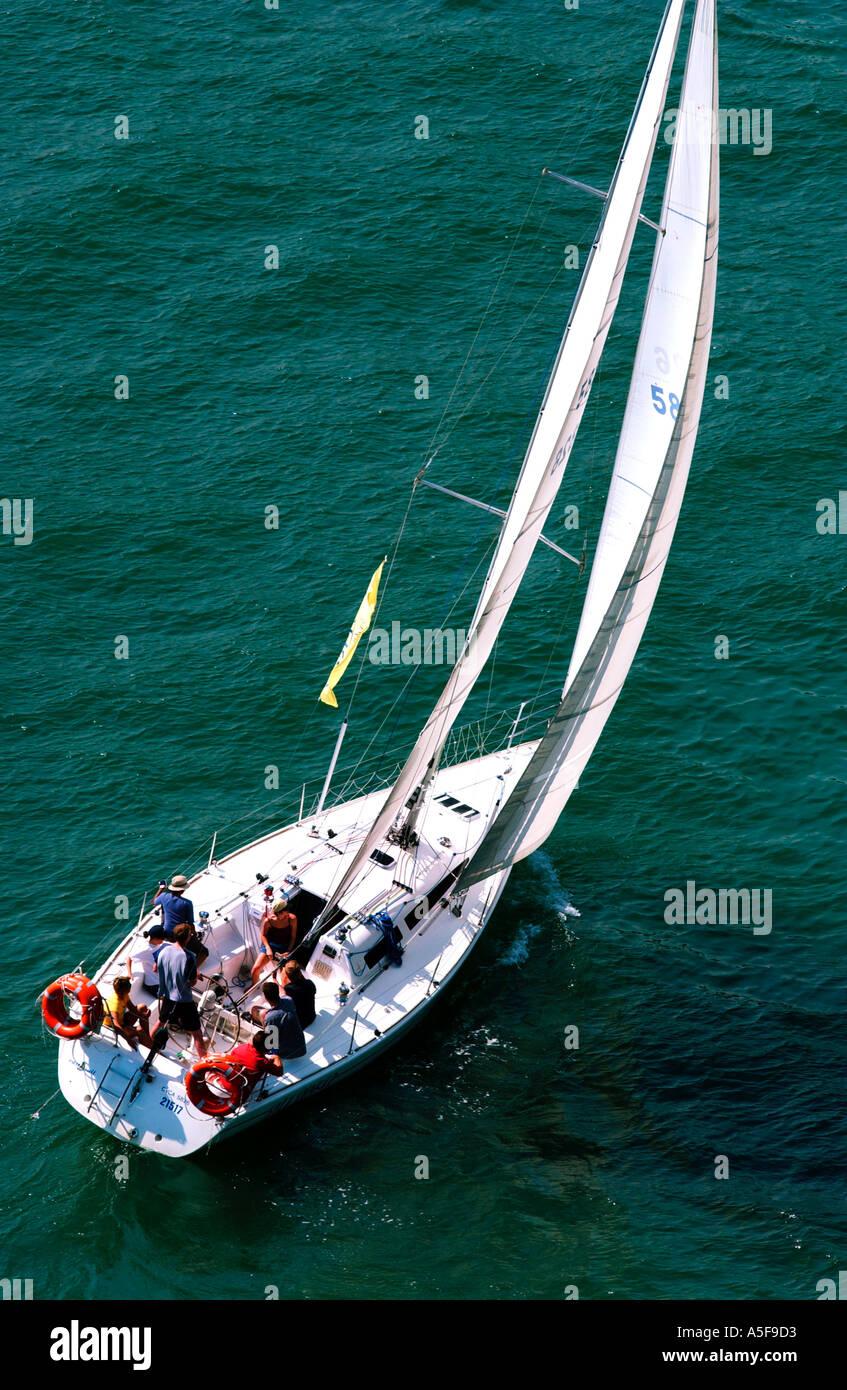 Leisure Yachting on Sydney Harbour Australia  - Stock Image