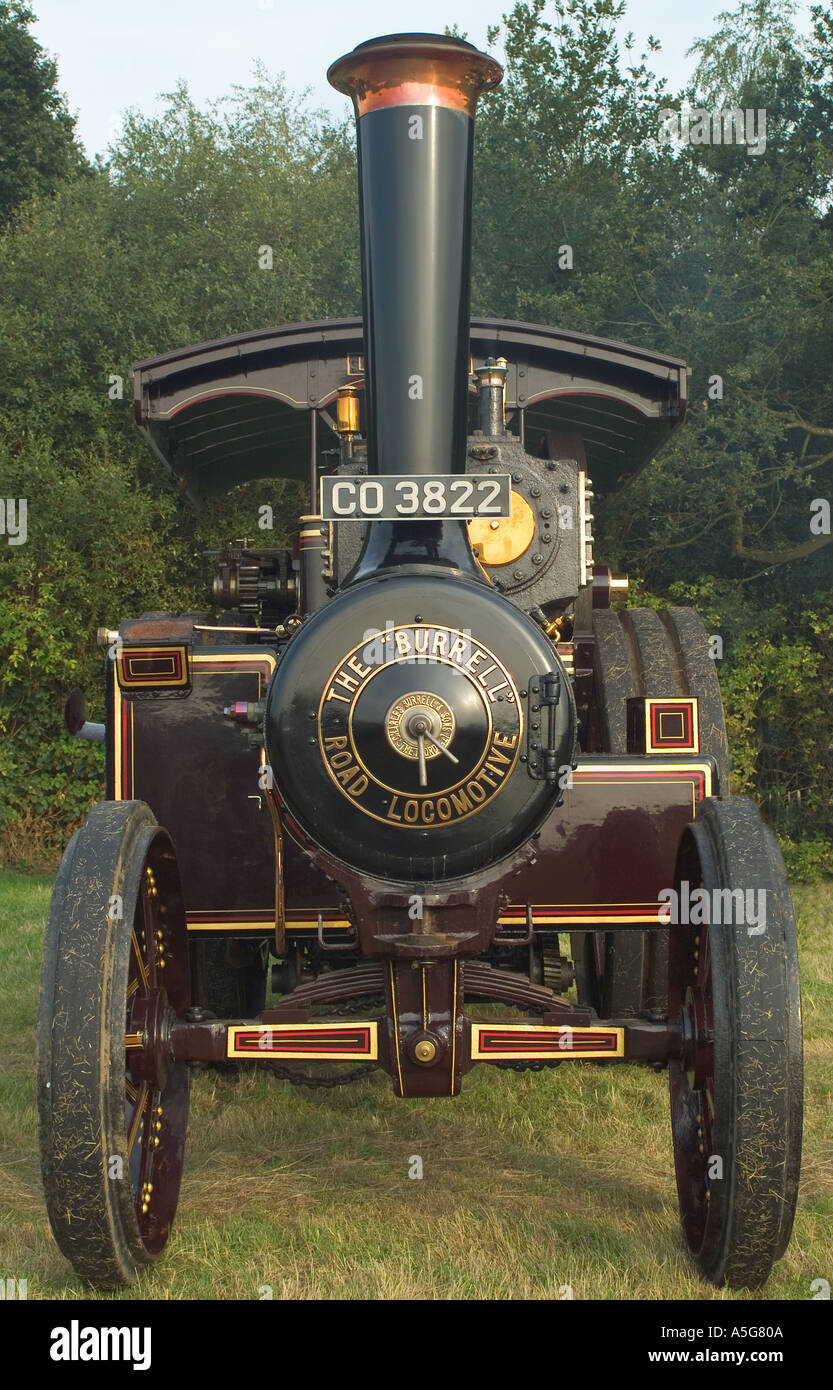 the burrell road locamotive at knowl hill steam rally uk - Stock Image