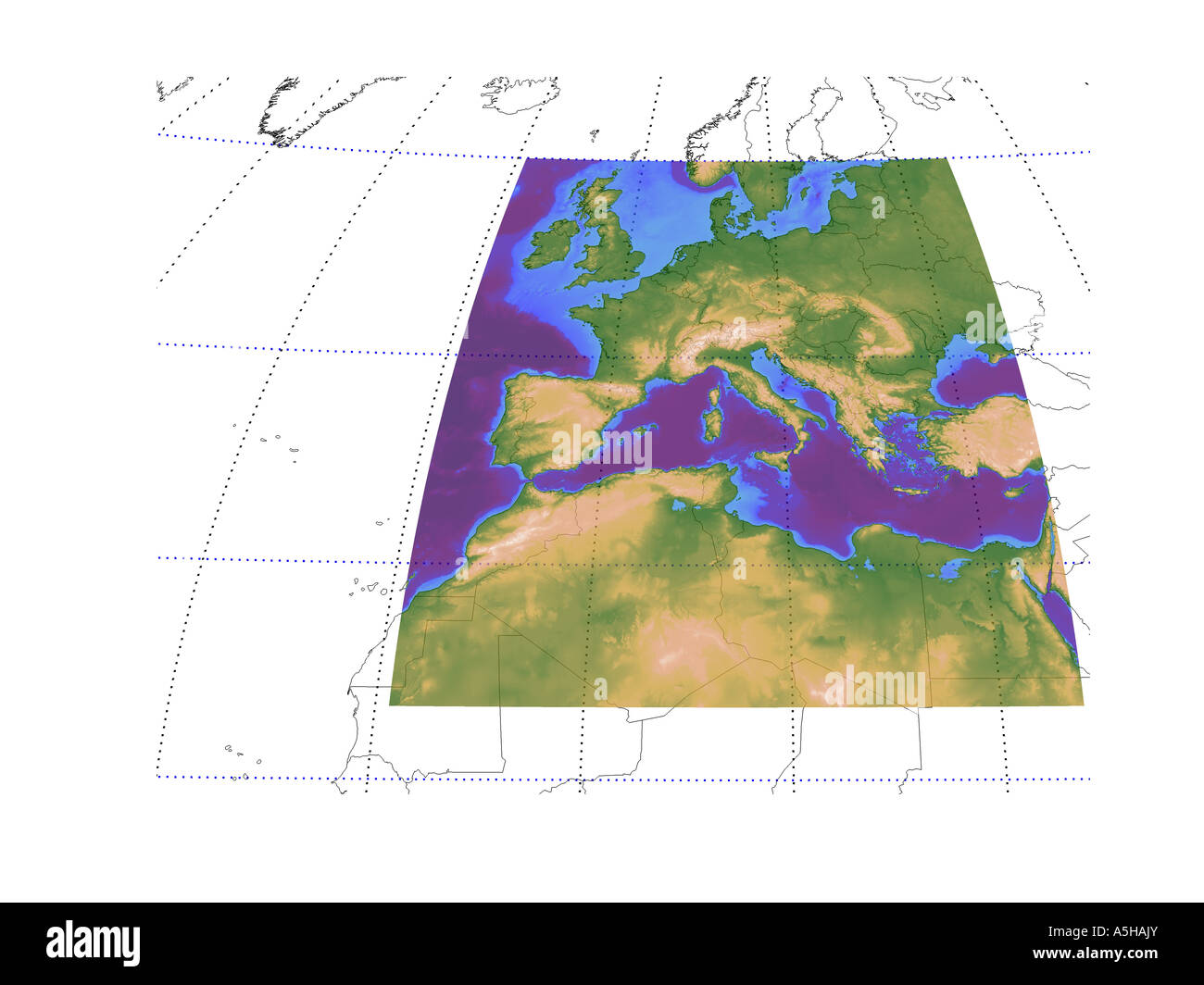 Topographic Map And Europe Stock Photos Topographic Map And Europe