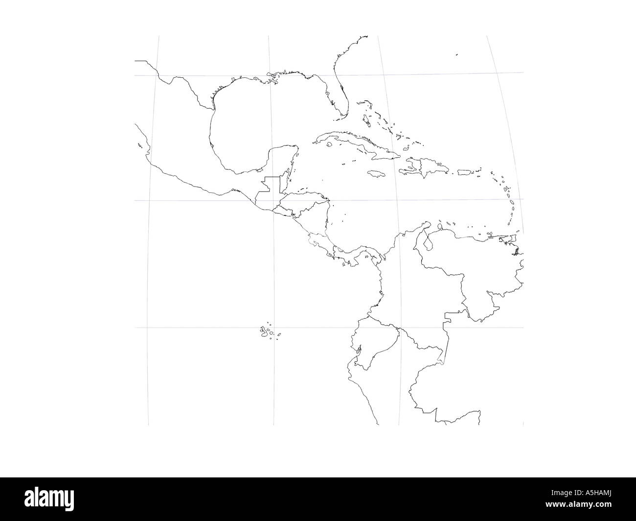 Wonderful Map Globe Central America Mexico Cuba Cartography Depth Height Latitude    Stock Image