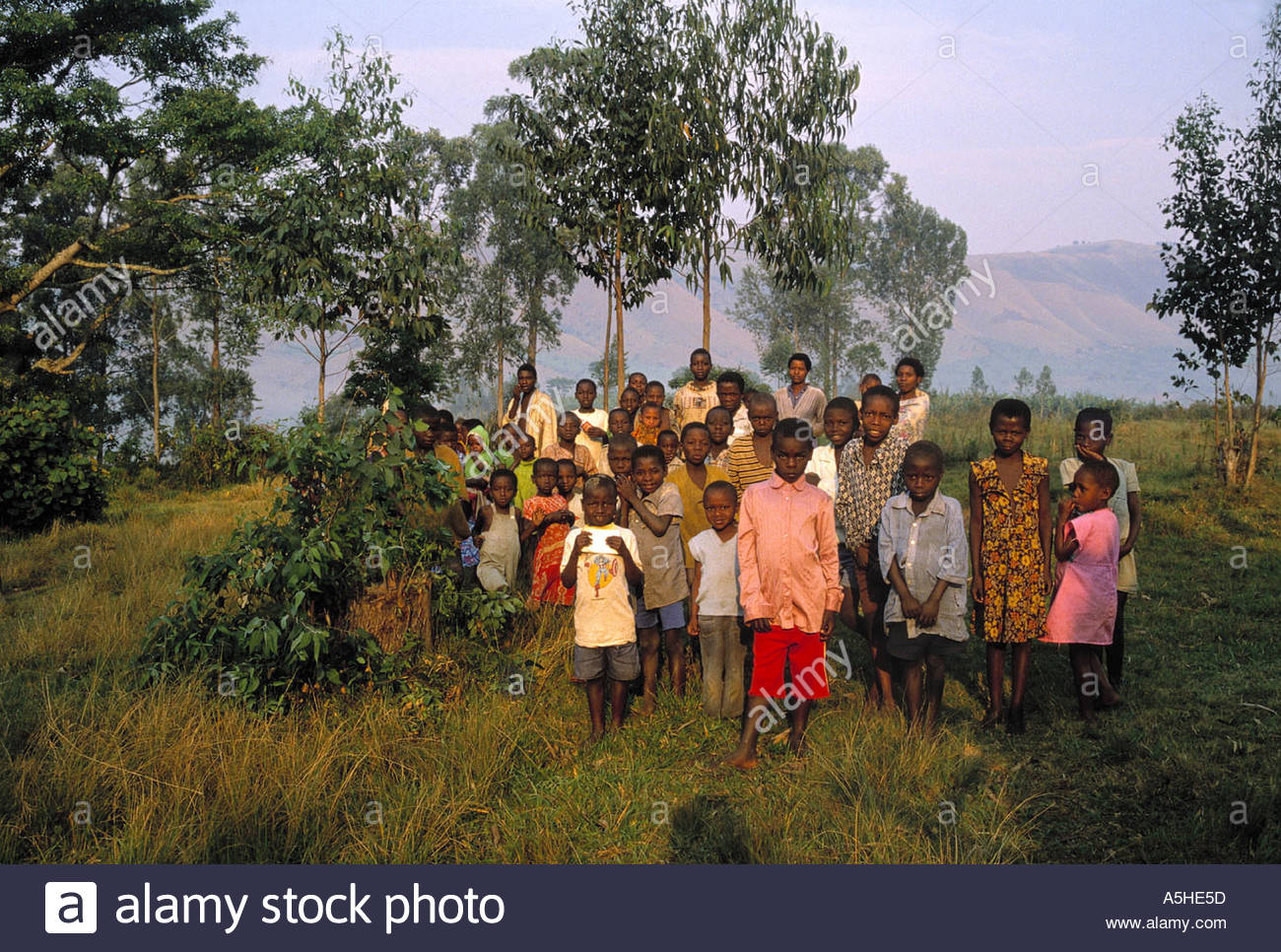 portrait of children rwanda - Stock Image