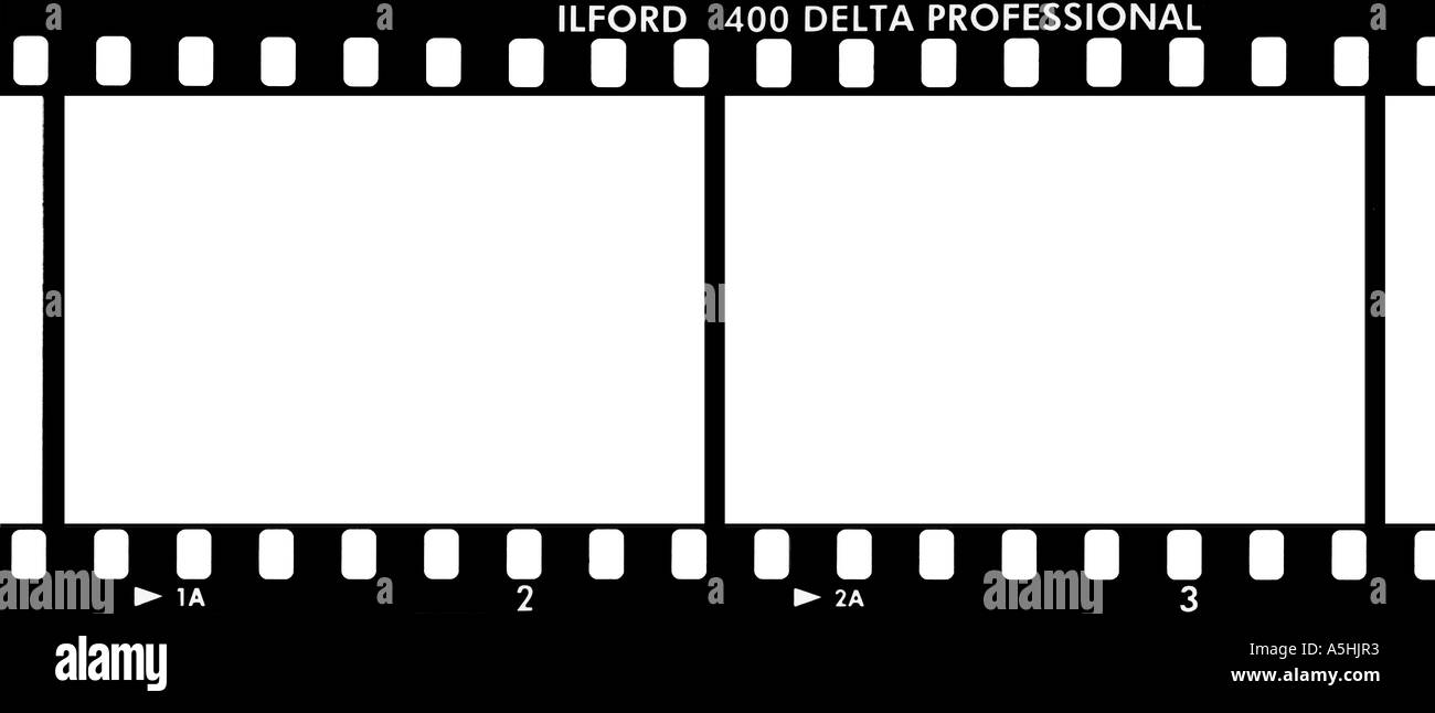 35mm Film Strip Ilford Delta 400 Professional with frame numbers ...
