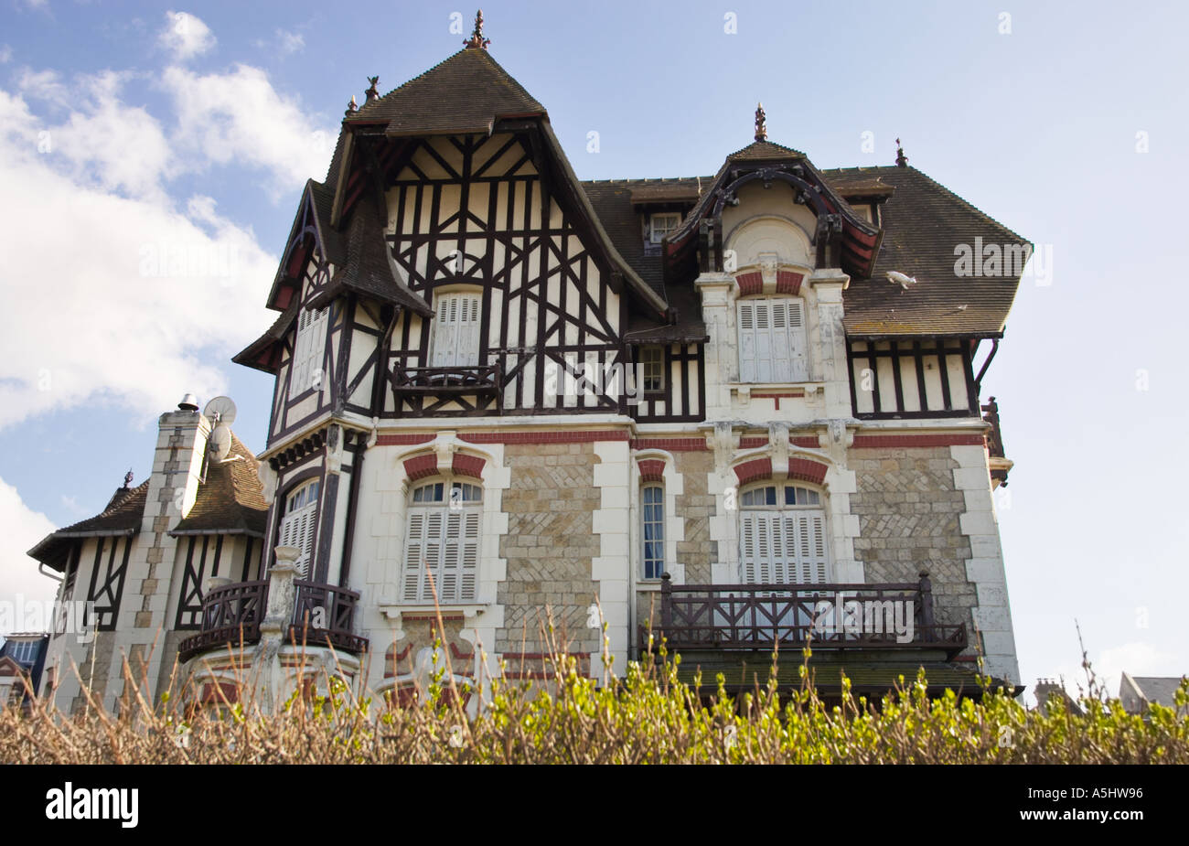 Traditional Normandy House In Deaville France Stock Photo Alamy