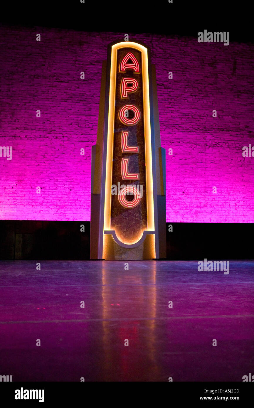 Inside the Apollo theater home of the famous Amateur Night shows in Harlem New York City USA February 2006 - Stock Image