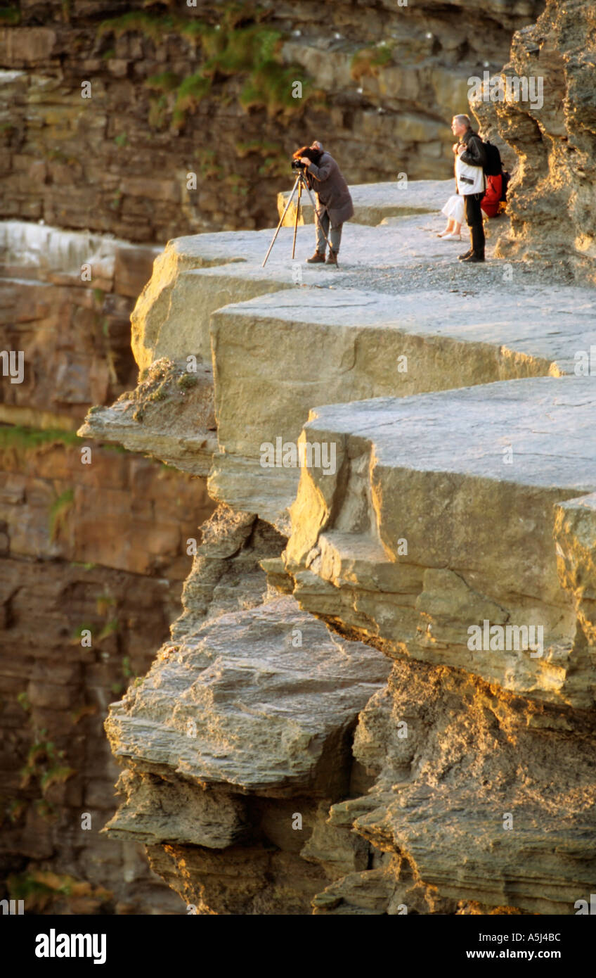 Photographers at the Cliffs Of Moher - Stock Image
