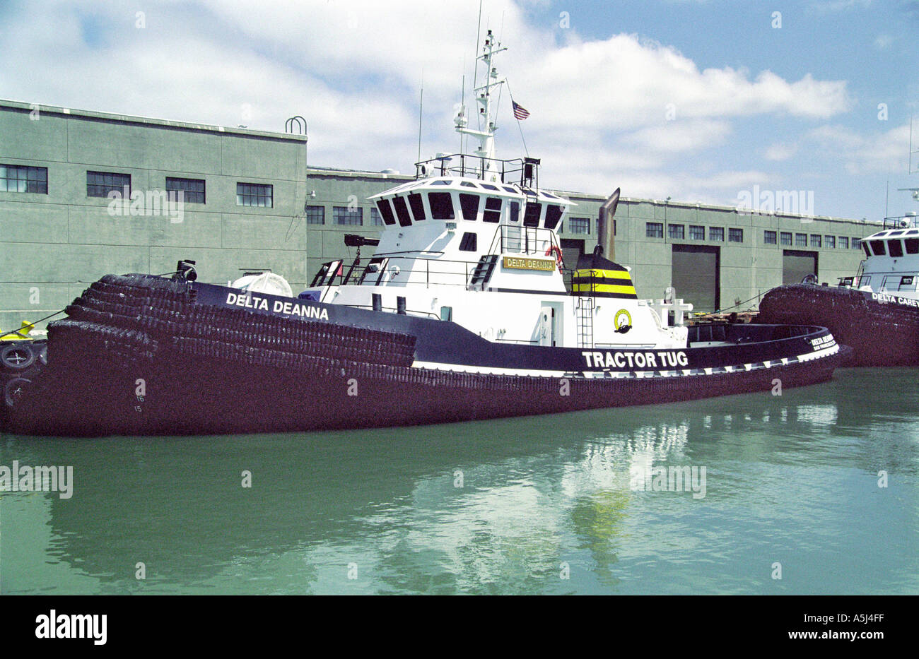 Tugboats in San Francisco California horbour - Stock Image