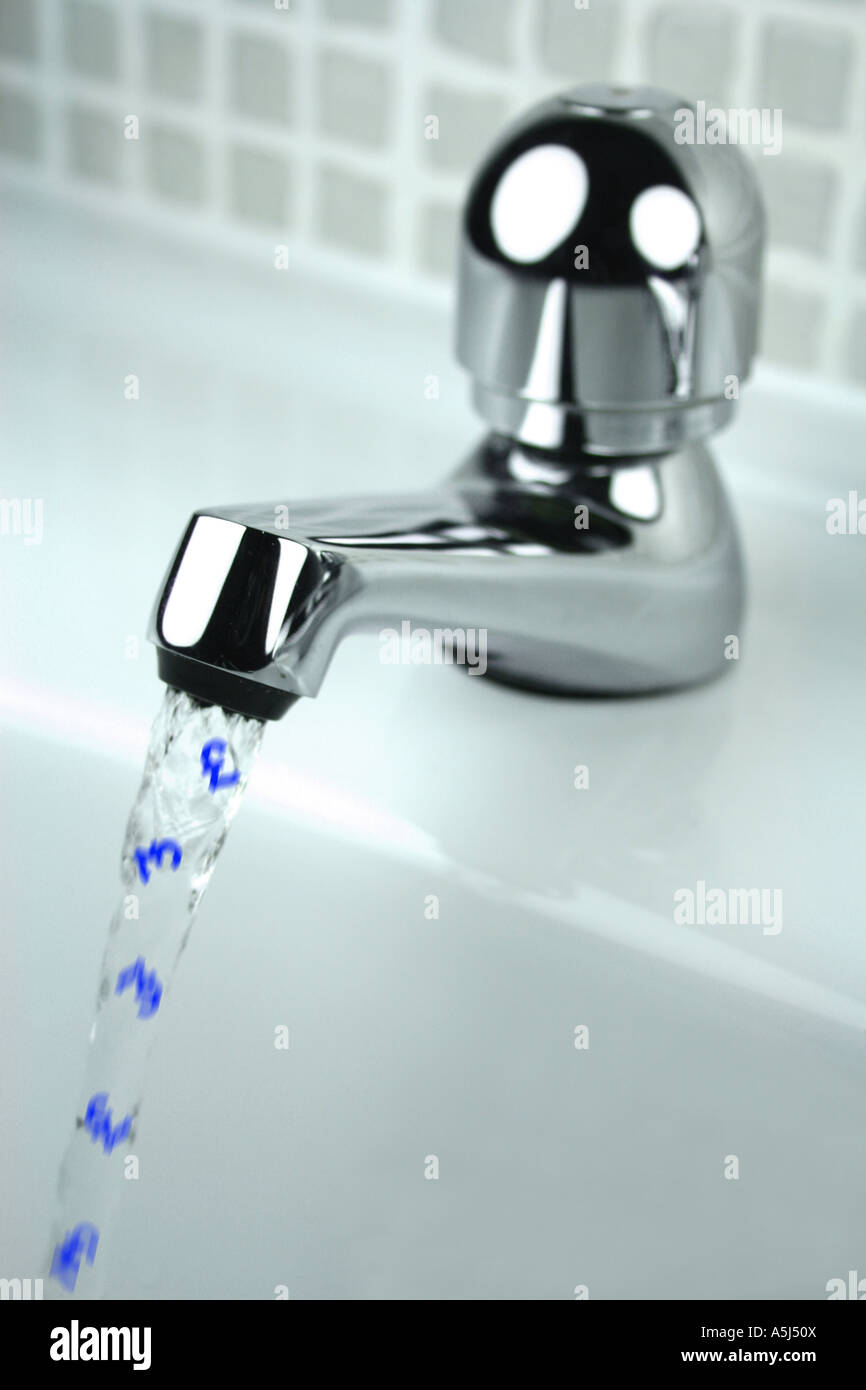 money down the drain concept (pounds) - Stock Image