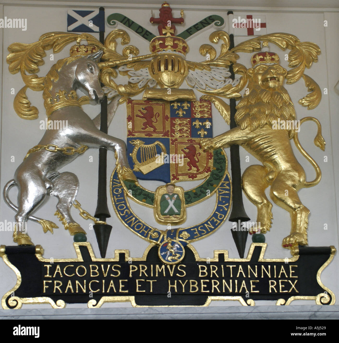 Scotland King James I Of England Coat Of Arms Stock Photo