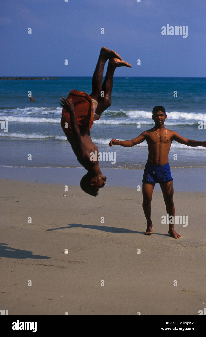 f4d1ace01 Back flips on the beach Andaman Islands India Stock Photo  2090305 ...