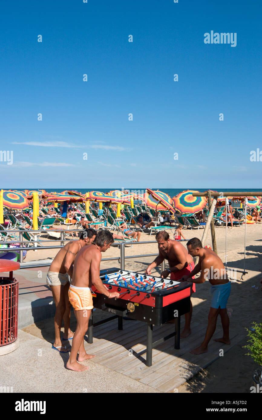 Beachfront Promenade, Lido de Jesolo, Venetian Riviera, Italy - Stock Image
