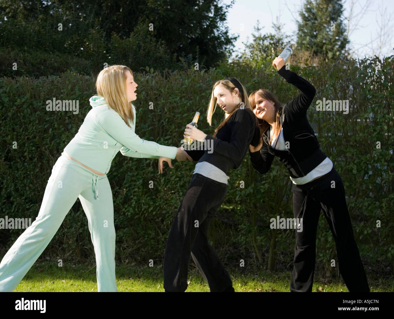 girl being bullied - Stock Image
