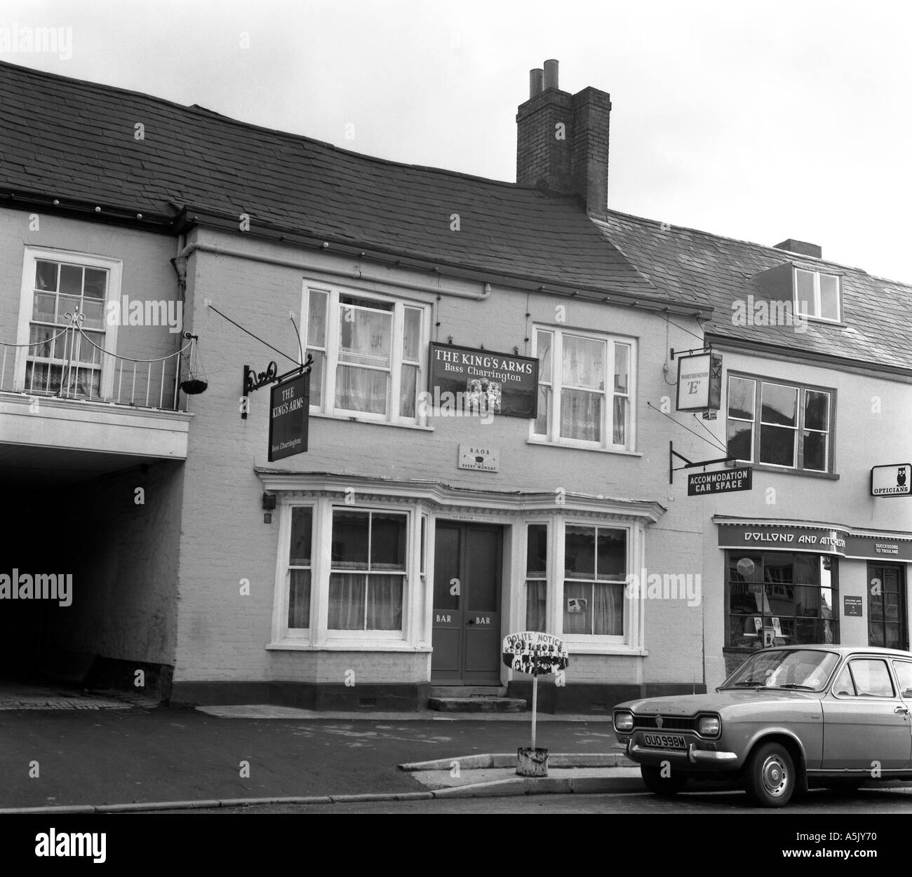 the kings arms honiton devon england 1973 in 6x6 no 0025 - Stock Image