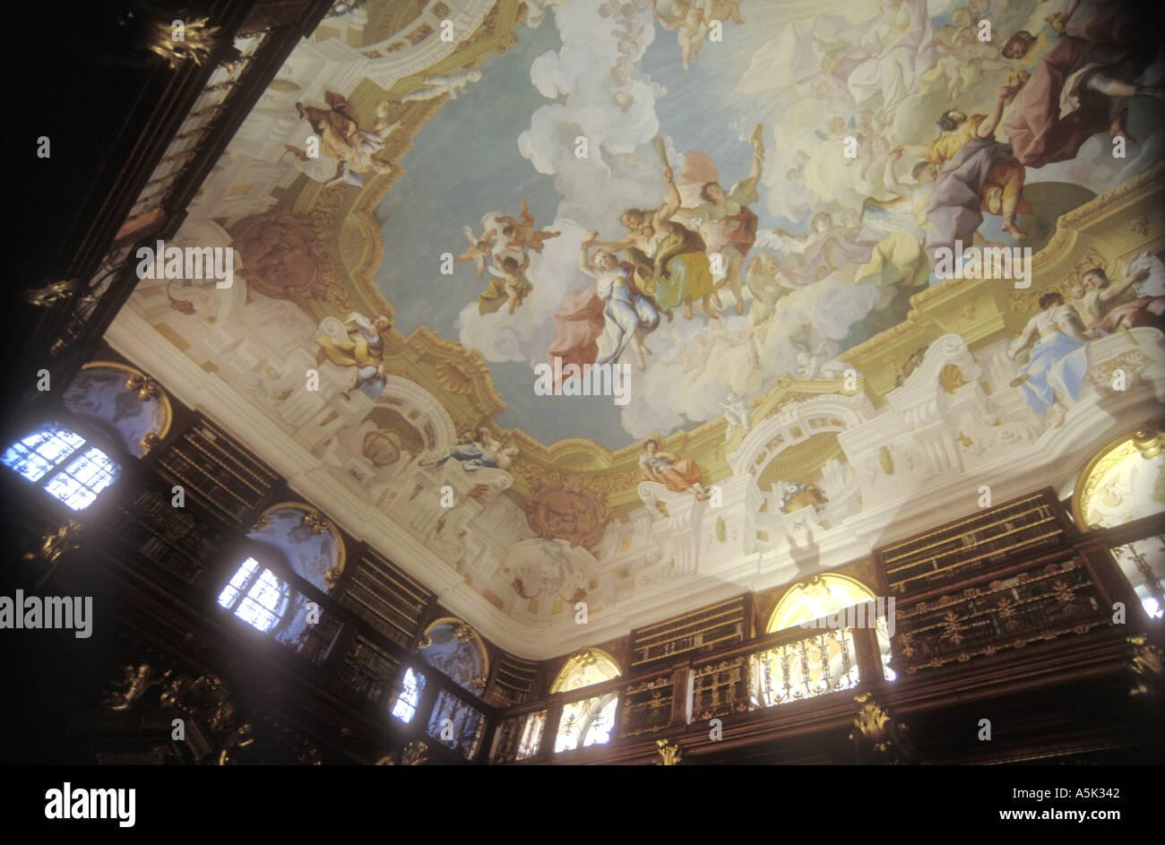 Melk Abbey Library Stock Photos  Melk Abbey Library Stock-6964