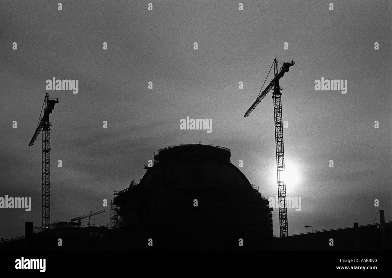 Sizewell B nuclear power station under construction, Suffolk, UK. - Stock Image