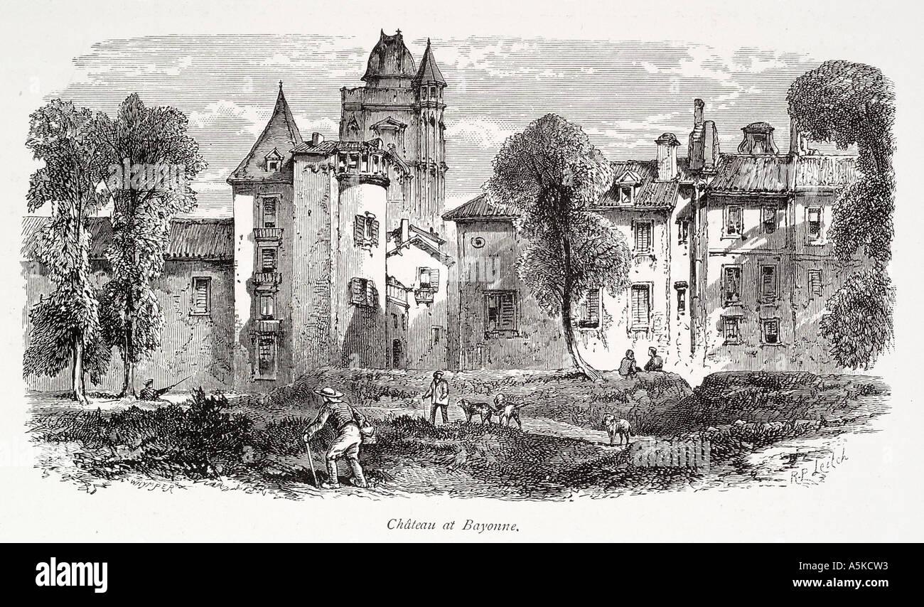Chateau Bayonne Hautes Pyrenees Basque Midi France French
