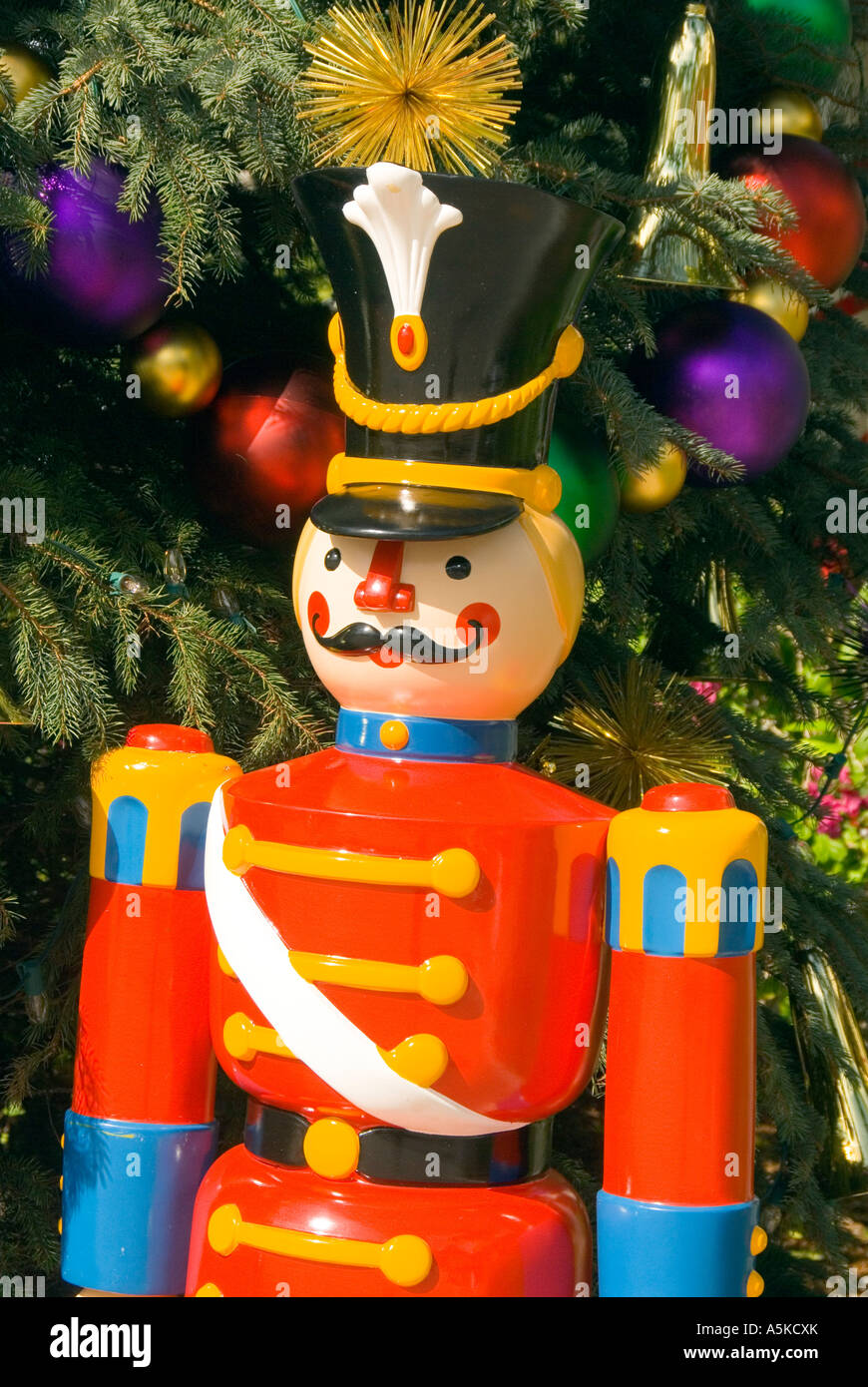 christmas decoration wooden soldier stock image - Christmas Decorations Wooden Soldiers