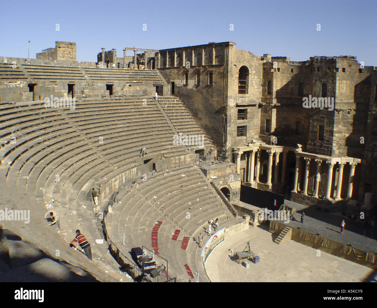 Roman theatre in Bosra - Stock Image