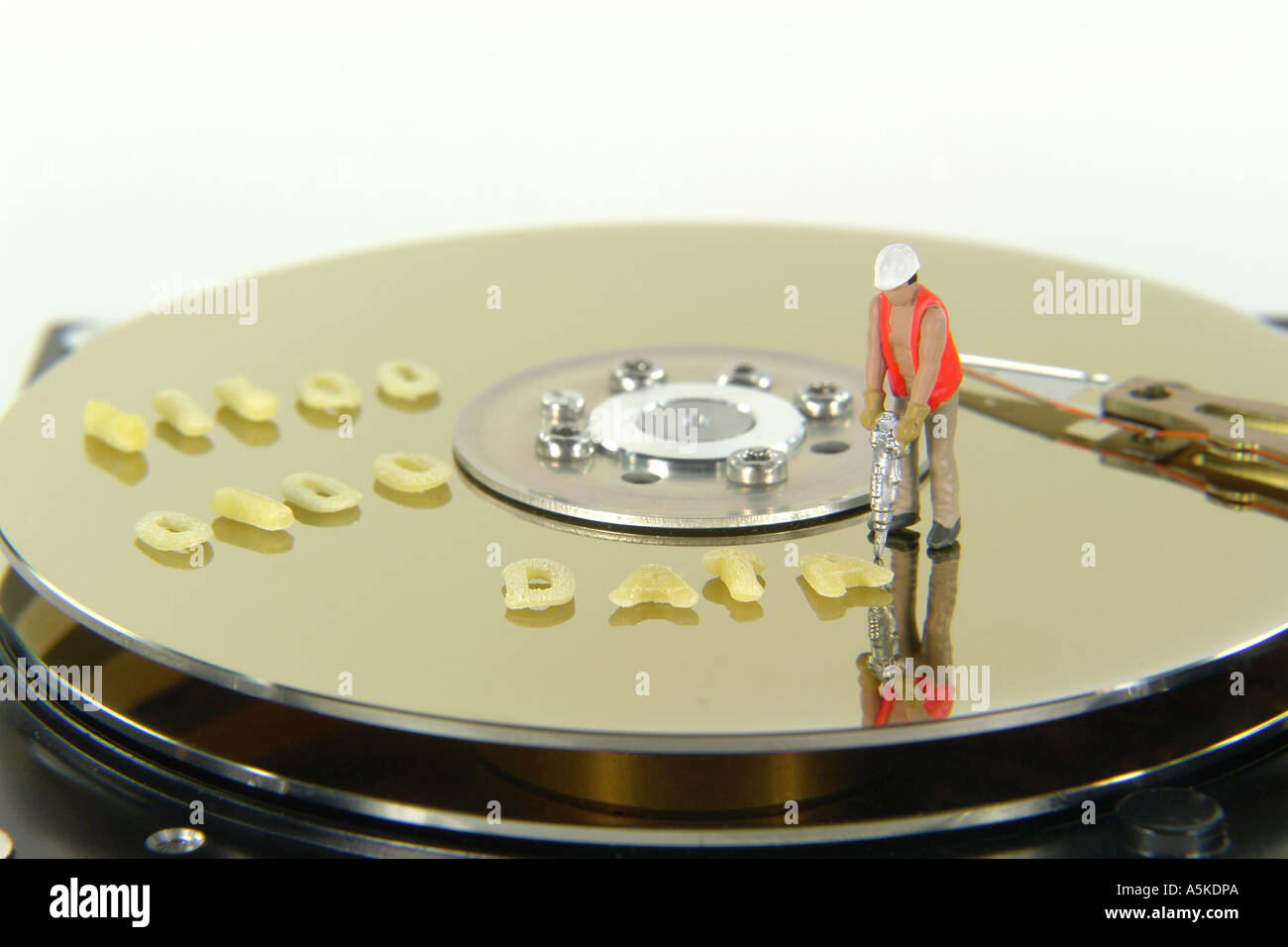 Symbolic Image data on a Harddisc (DATA) - Stock Image