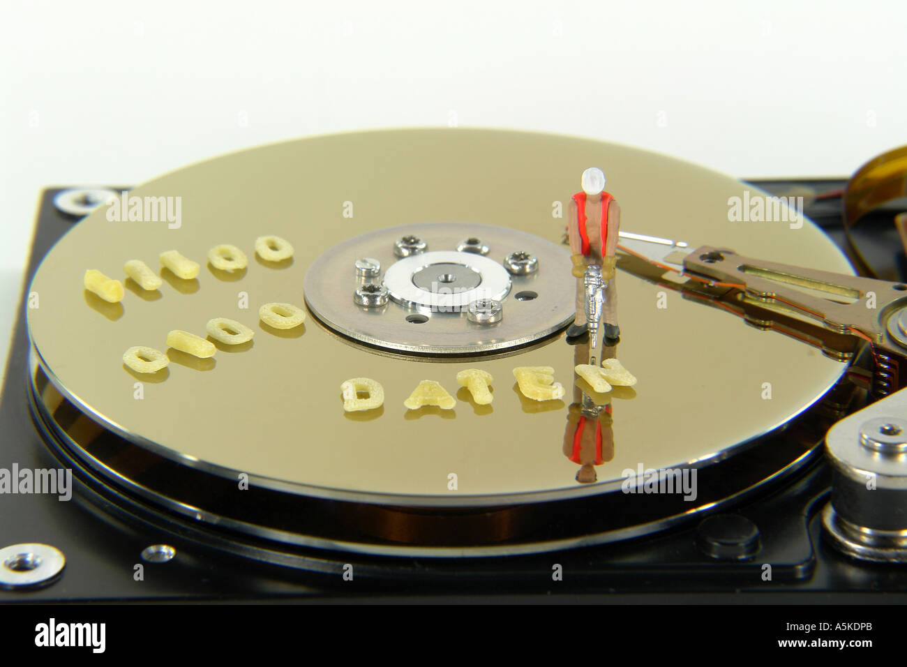 Symbolic Image data on a Harddisc (DATEN) - Stock Image