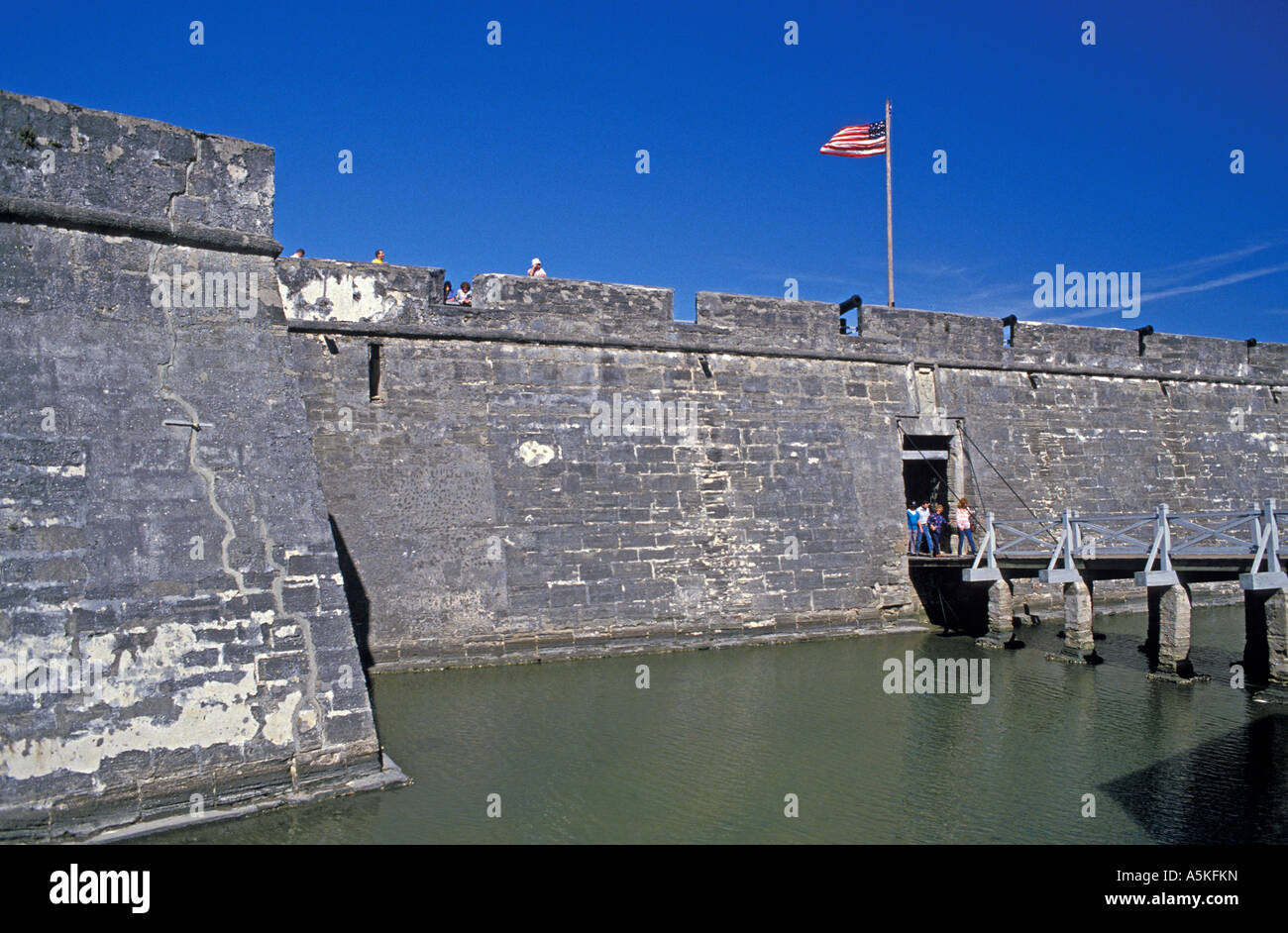 St Augustine florida Castillo de San Marcos with water in the moat ...