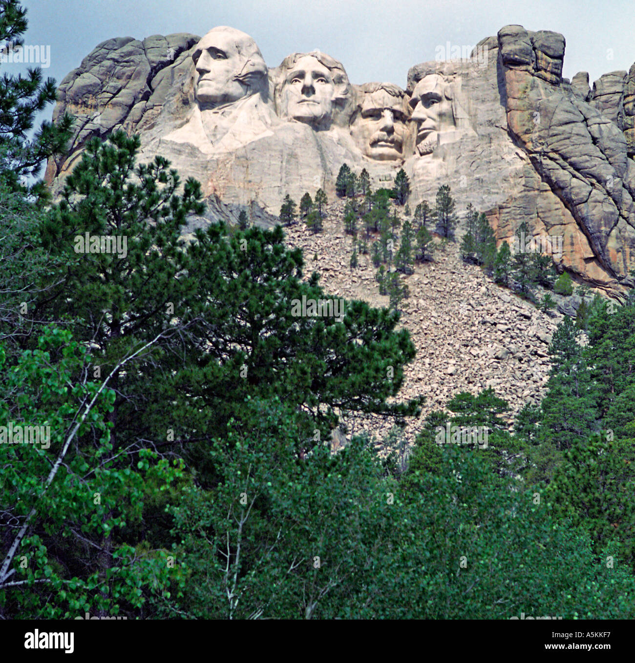 Mount Rushmore national Monument located in the Black Hills of South Dakota Stock Photo