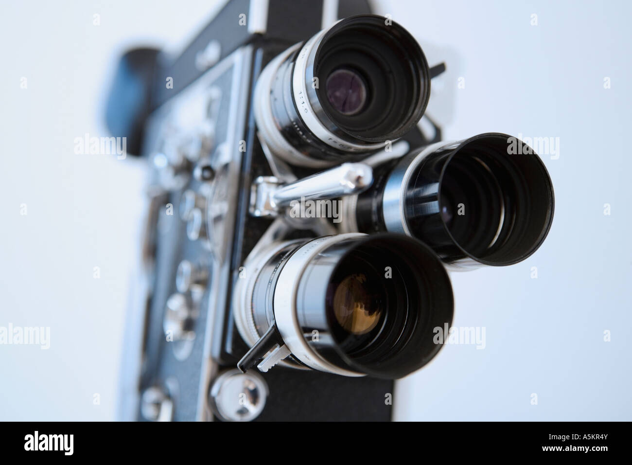 Close up of old fashioned film camera - Stock Image