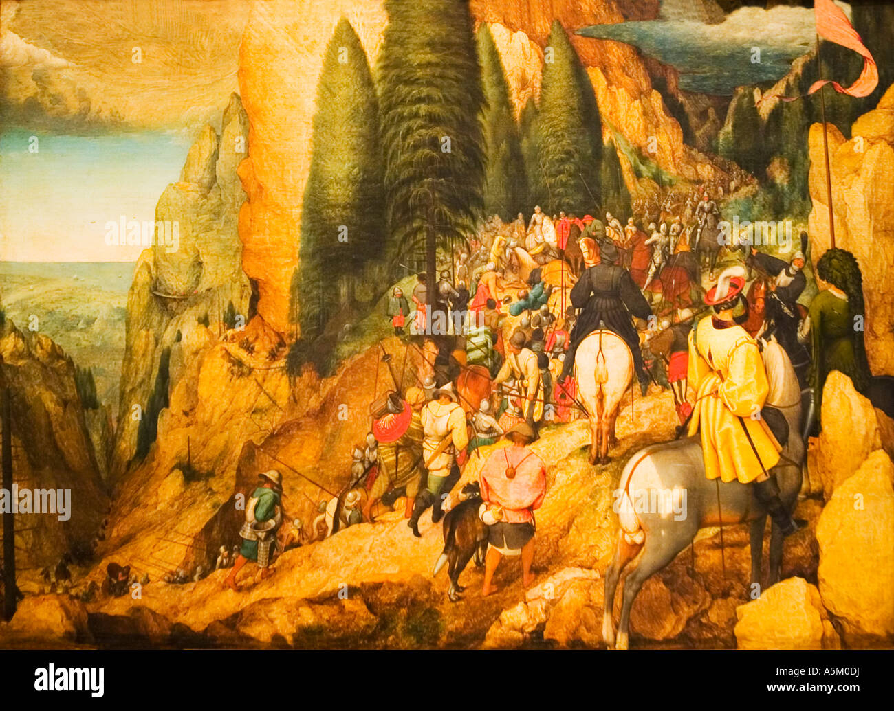 Conversion of St. Paul painted by Pieter Bruegel the Elder in 1567 in the Fine Art Kunsthistorisches Museum Vienna - Stock Image