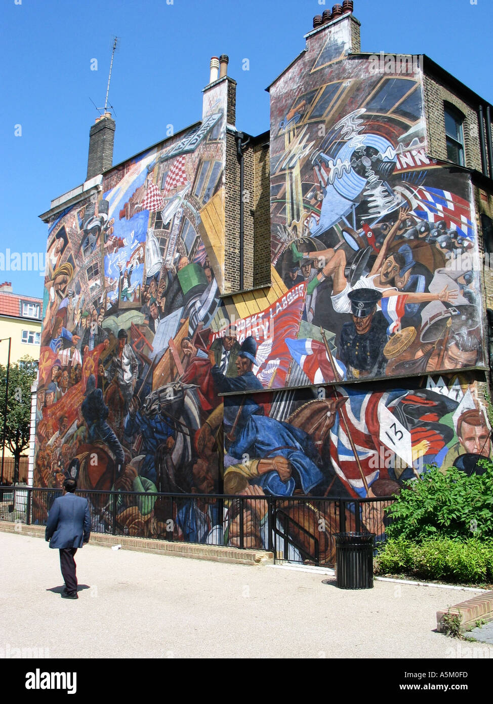 Cable Street Mural - Stock Image