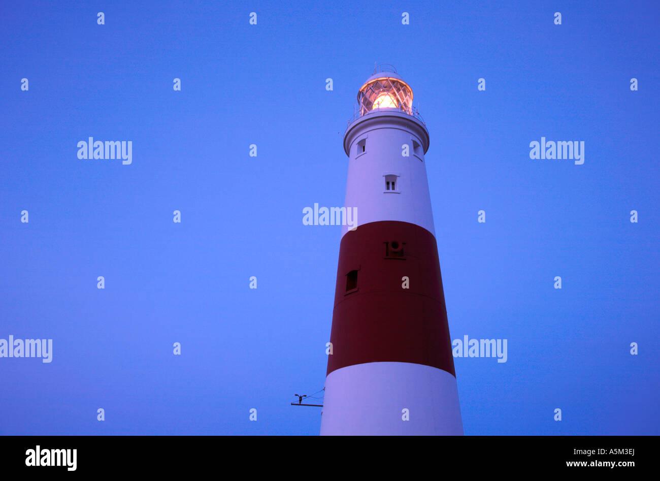 Portland Bill Lighthouse Dorset England - Stock Image