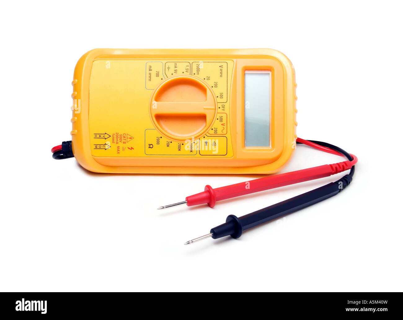 Generic current voltage multi meter instrument - Stock Image