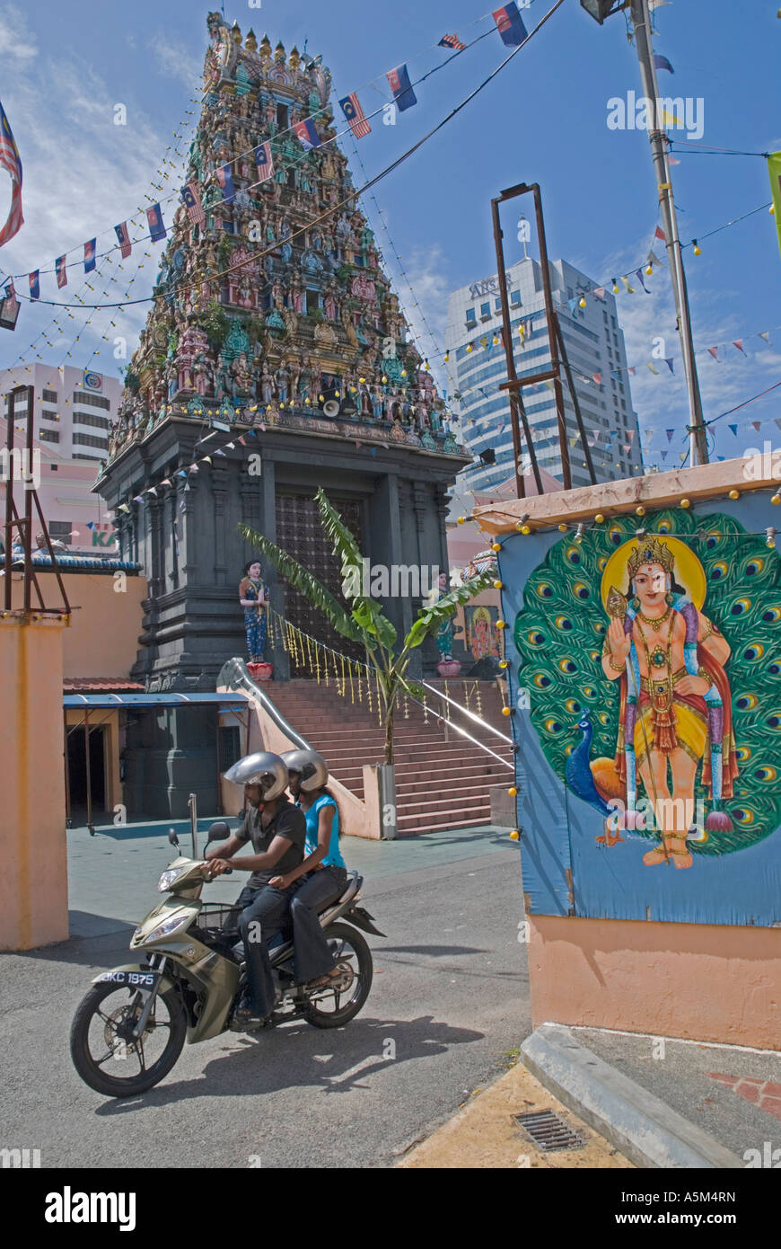 The Sri Mariamman Indian temple in Johor Bahru Malaysia - Stock Image