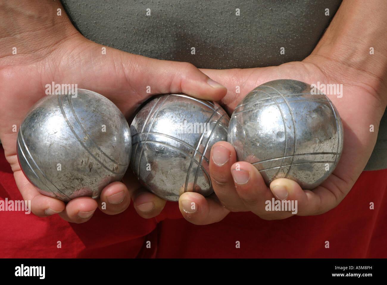 Boule Boulekugeln Hand Hände Körperteil Finger hand hands body part ...
