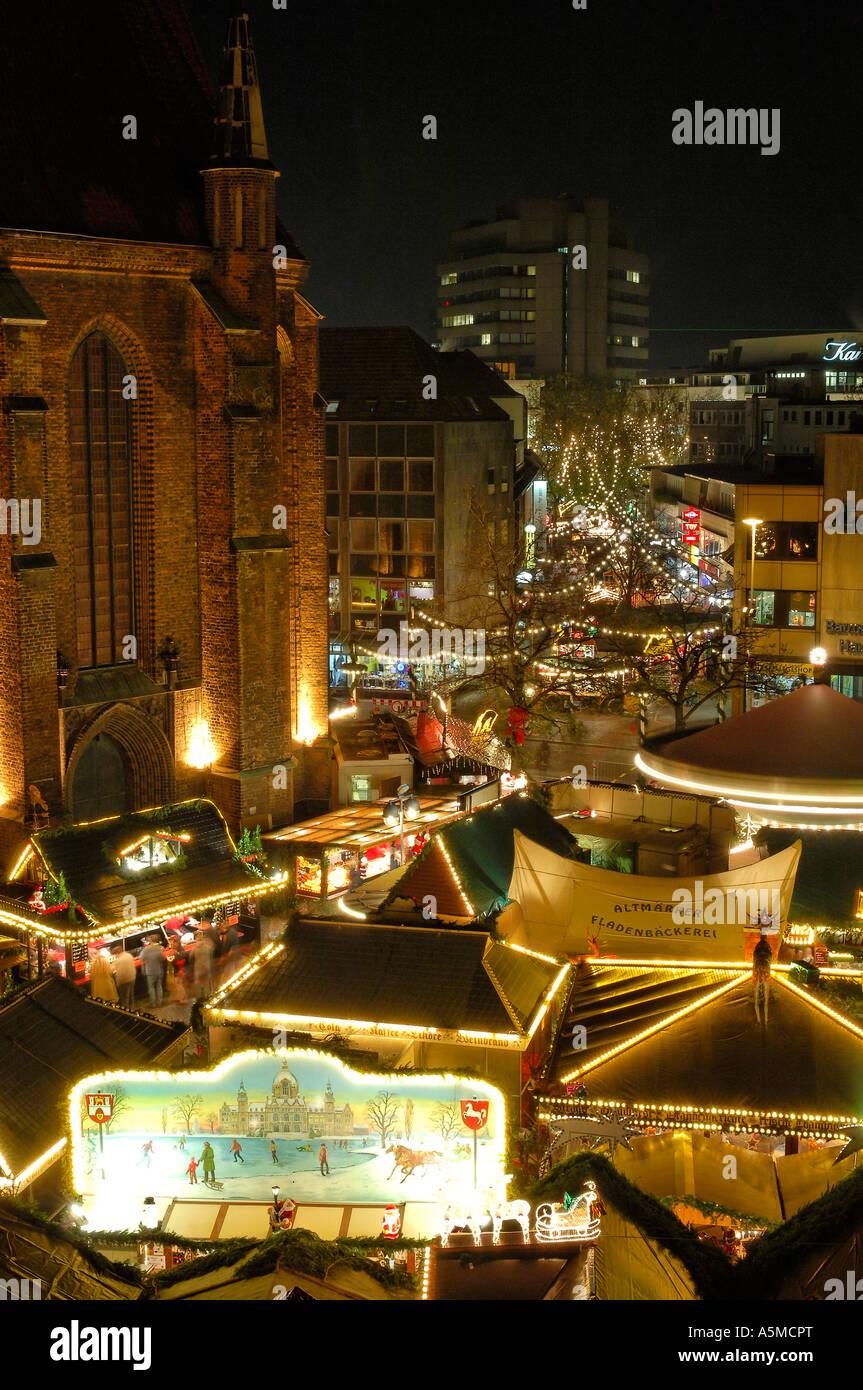 Hannover Weihnachtsmarkt.Weihnachtsmarkt Hannover Fussgaengerzone Weihnachten