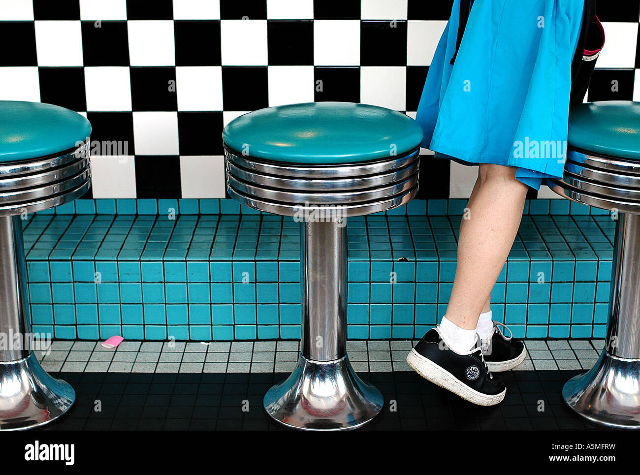 American Diner Waitress Retro Stock Photos Amp American