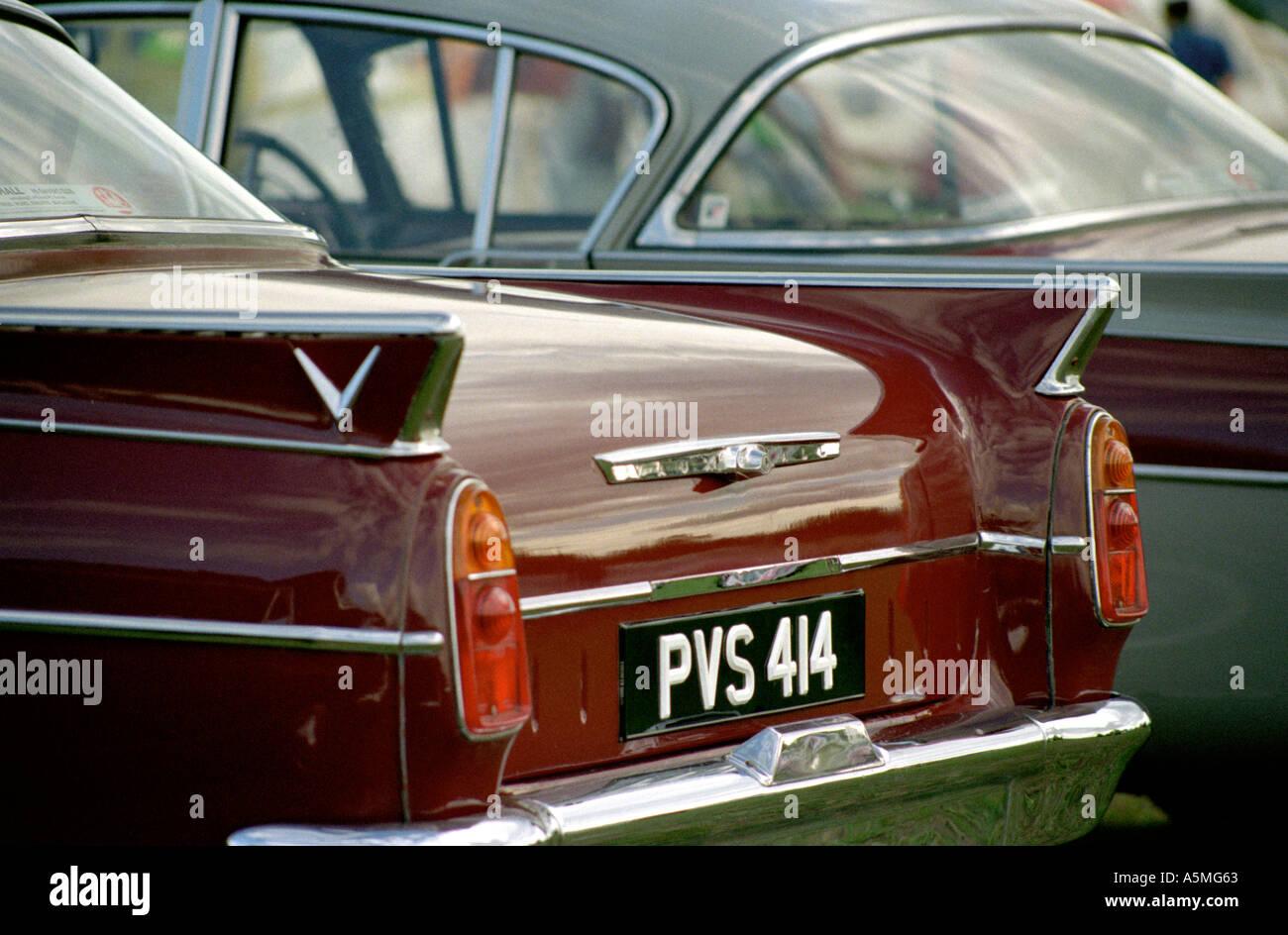 UK Classic and veteran car show, Vauxhall detail - Stock Image