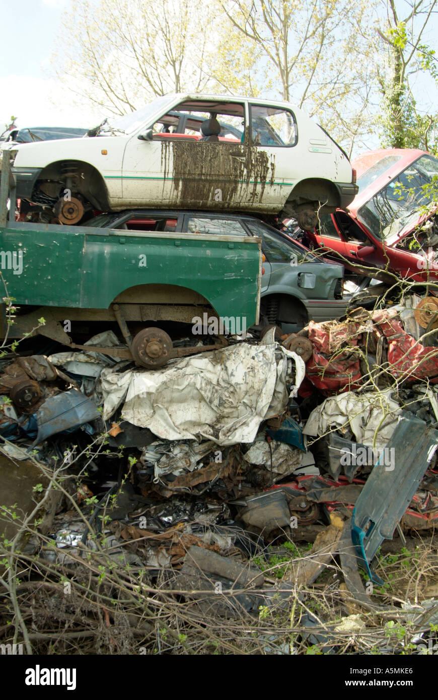 scrap car oil junk scrap scrapyard junk yard junkyard trash rubbish ...