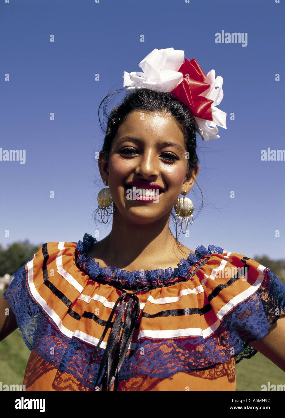 Mexican girl in national dress Stock Photo