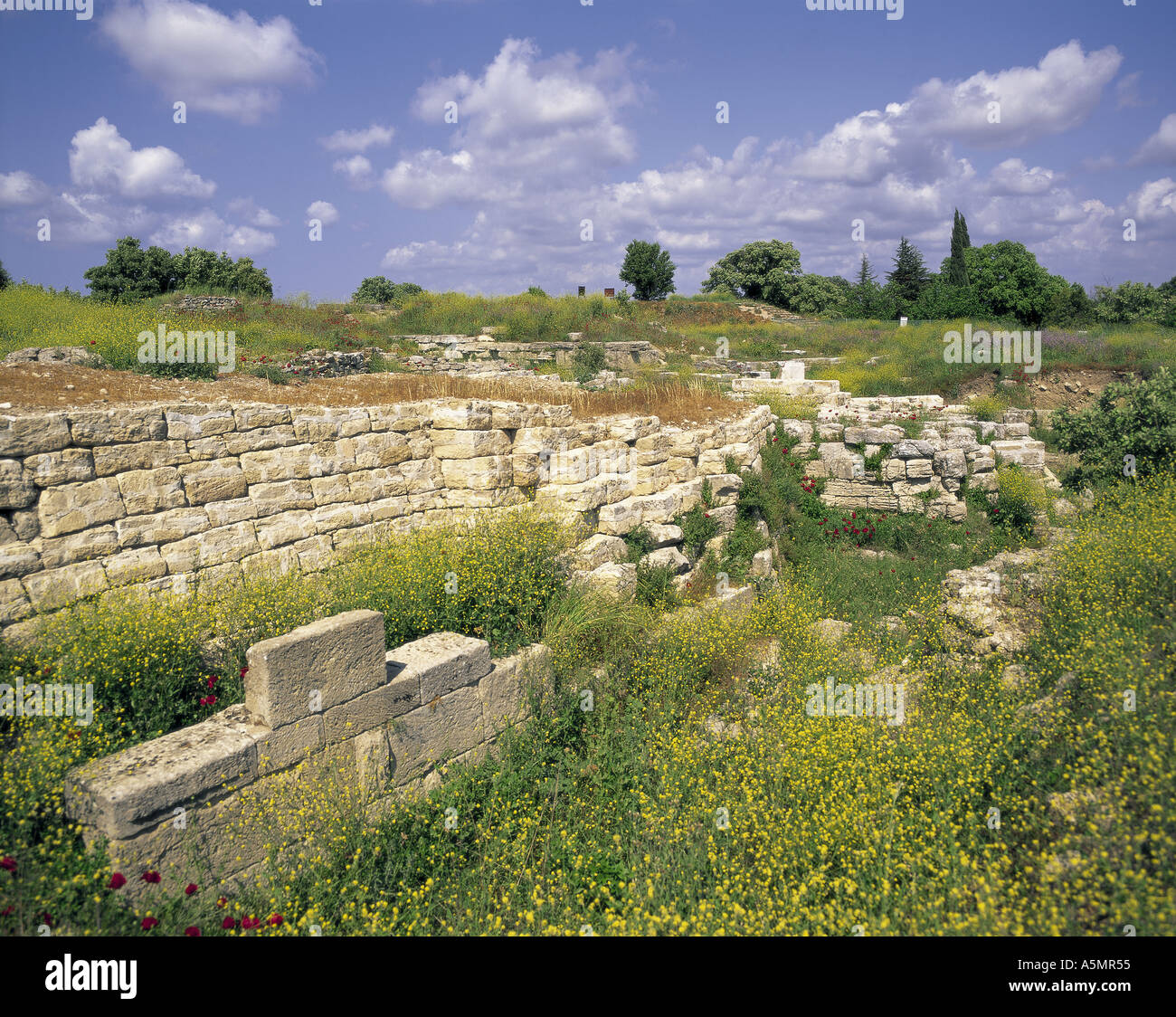 Ancient city of Troy Turkey - Stock Image